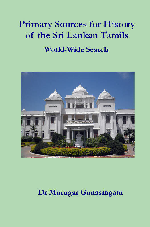 Primary Sources for History of the Sri Lankan Tamils: World-Wide Search
